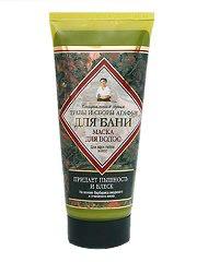 Маска для поврежденных волос из специальной серии Травы и Сборы Агафьи Для Бани от Рецепты бабушки Агафьи