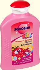 Шампунь и гель для душа с малиной от Sanosan