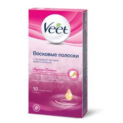 Восковые полоски с ароматом бархатной розы и эфирными маслами Suprem' Essence от Veet