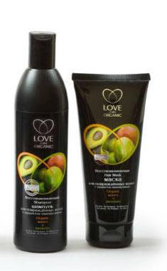 """Шампунь и маска """"Organic манго + авокадо"""" с эффектом ламинирования от Love 2 mix Organic"""