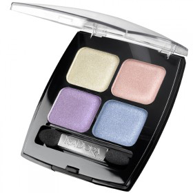 Тени для век Eye Shadow Quartet - matte & glittering (оттенок № 62 Rainbow Pearls) от IsaDora
