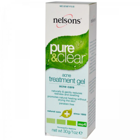 Гель для лечения прыщей Pure & Clear, Acne Treatment Gel от Nelson Bach USA от Nelsons