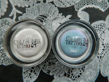 Кремовые тени для век Color Tattoo 24 HR (оттенок № 45 Infinite White, № 87 Mauve Crush) от Maybelline
