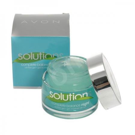 Матирующий ночной гель для лица Идеальная кожа Solutions от Avon