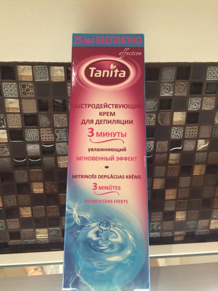 """Увлажняющий крем для депиляции """"3 минуты"""" от Tanita"""