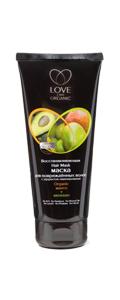 Восстанавливающая маска для поврежденных водос с эффектом ламинирования от Love 2 mix Organic