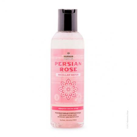 Розовая мицеллярная вода Persian Rose серии Hammam organic oils от Natura Vita