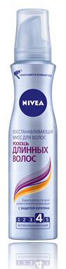 """Восстанавливающий мусс """"Роскошь длинных волос"""" от Nivea"""