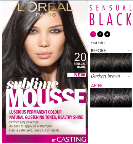 Краска для волос черный пепельный