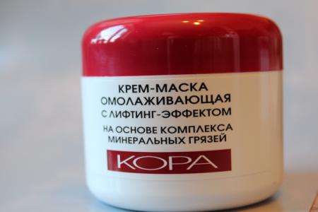 Омолаживающая крем-маска для лица с лифтинг-эффектом на основе комплекса минеральных грязей от Кора